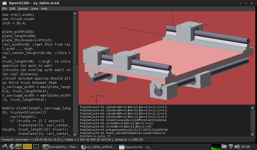 a pretty rendering using openscad